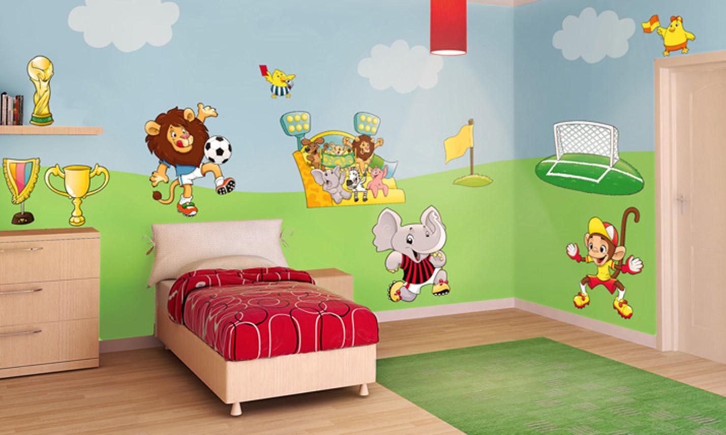 Stickers murali bambini cameretta la squadra del cuore - Stickers cameretta bambino ...